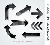 set of black arrows with... | Shutterstock .eps vector #131049440
