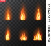 realistic burning fire flames... | Shutterstock .eps vector #1310495903