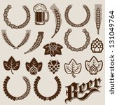 beer ingredients ornamental... | Shutterstock .eps vector #131049764
