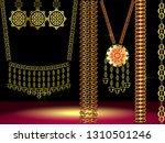 dubai gold souk.south indian...   Shutterstock .eps vector #1310501246