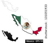 maps of mexico  3 dimensional... | Shutterstock .eps vector #131051933
