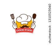 good food logo template  | Shutterstock .eps vector #1310525060
