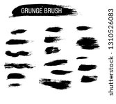 vector set of grunge brush... | Shutterstock .eps vector #1310526083