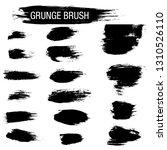vector set of grunge brush... | Shutterstock .eps vector #1310526110