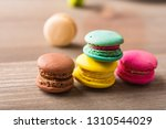 colorful macaron in natural... | Shutterstock . vector #1310544029