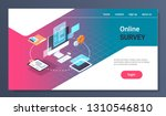 online testing questionnaire... | Shutterstock .eps vector #1310546810
