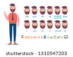 front view animated character.... | Shutterstock .eps vector #1310547203