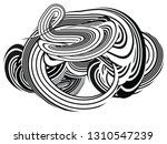 tangle lines black and white... | Shutterstock .eps vector #1310547239