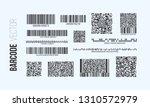 barcode vector set. qr code... | Shutterstock .eps vector #1310572979