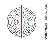 straight arrow going right... | Shutterstock .eps vector #1310573000