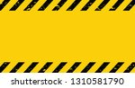 black and yellow line striped.... | Shutterstock .eps vector #1310581790
