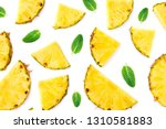 summer pattern with  sliced... | Shutterstock . vector #1310581883