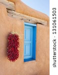 southwestern adobe window | Shutterstock . vector #131061503
