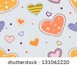 illustration of hearts... | Shutterstock .eps vector #131062220