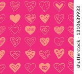 seamless pattern with hearts.... | Shutterstock .eps vector #1310639933