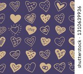 seamless pattern with hearts.... | Shutterstock .eps vector #1310639936