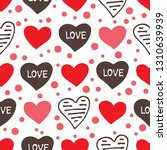 seamless pattern with hearts.... | Shutterstock .eps vector #1310639939
