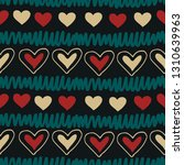 seamless pattern with hearts.... | Shutterstock .eps vector #1310639963