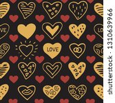 seamless pattern with hearts.... | Shutterstock .eps vector #1310639966
