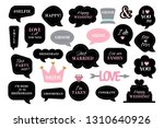 photo booth props for wedding... | Shutterstock .eps vector #1310640926