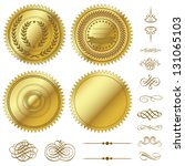 vector gold seal set | Shutterstock .eps vector #131065103