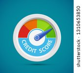 credit score rating scale with... | Shutterstock .eps vector #1310653850