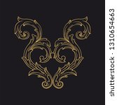 gold ornament baroque style.... | Shutterstock .eps vector #1310654663
