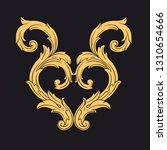 gold ornament baroque style.... | Shutterstock .eps vector #1310654666