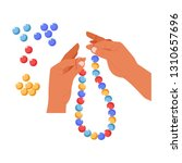 handmade craft beads creation... | Shutterstock .eps vector #1310657696