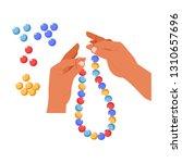 handmade craft beads creation... | Shutterstock .eps vector #1310657696