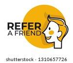 share information refer friend... | Shutterstock .eps vector #1310657726