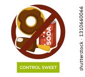 sugar containing food and... | Shutterstock .eps vector #1310660066