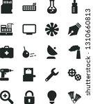 solid black vector icon set  ... | Shutterstock .eps vector #1310660813