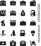 solid black vector icon set  ... | Shutterstock .eps vector #1310661266