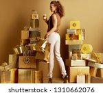 full length portrait of happy... | Shutterstock . vector #1310662076