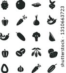 solid black vector icon set  ... | Shutterstock .eps vector #1310663723