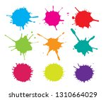 colorful paint blots.set of... | Shutterstock .eps vector #1310664029
