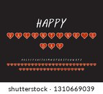 holiday alphabet of two designs.... | Shutterstock .eps vector #1310669039