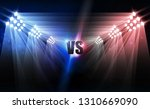 bright stadium arena lights vs... | Shutterstock .eps vector #1310669090