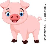 cartoon happy pig isolated on...   Shutterstock .eps vector #1310669819