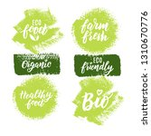 organic food hand lettering set ... | Shutterstock .eps vector #1310670776