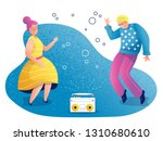 grandmother and grandfather... | Shutterstock .eps vector #1310680610