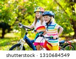 kids on bike in park. children... | Shutterstock . vector #1310684549