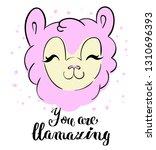 cute llama print. t shirt... | Shutterstock .eps vector #1310696393