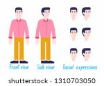 man character set in official... | Shutterstock .eps vector #1310703050