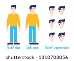 man character set in casual... | Shutterstock .eps vector #1310703056