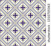 ceramic thai pattern benjarong... | Shutterstock .eps vector #1310705363