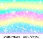 unicorn rainbow background.... | Shutterstock .eps vector #1310706953
