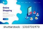 landing page web design... | Shutterstock .eps vector #1310731973