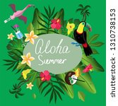 summer card with tropical... | Shutterstock .eps vector #1310738153